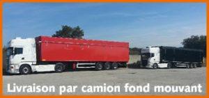 livraison bois chauffage camion fond mouvant